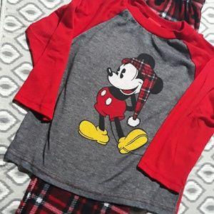 Disney Mickey Holiday PJ Set